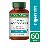 Nature's Bounty Acidophilus with B.lactis Chewable Tabs 60