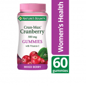 Nature's Bounty Cran-Max Cranberry 500mg with Vitamin C Gummies 60