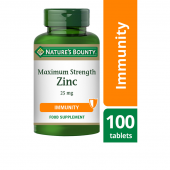Nature's Bounty Maximum Strength Zinc 25mg Caplets 100