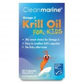 Cleanmarine Krill Oil for Kids 200mg Marine Gelcaps 60