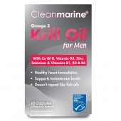 Cleanmarine Krill Oil for Men 600mg Marine Gelcaps 60