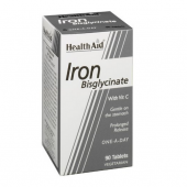 HealthAid Iron Bisglycinate Tablets 90
