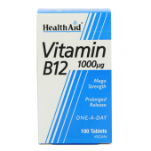 HealthAid Vitamin B12 1000ug Prolonged Release Tablets 100