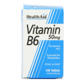 HealthAid Vitamin B6 50mg tablets 100