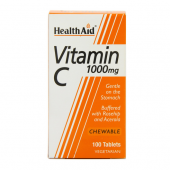 HealthAid Vitamin C 1000mg Chewable tabs 100
