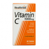 HealthAid Vitamin C 1000mg Chewable tabs 60