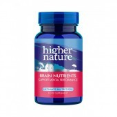 Higher Nature Brain Nutrients Vegetable Capsules 30