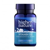 Higher Nature Vitamin D 500iu Softgels 60
