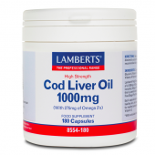 Lamberts Cod Liver Oil 1000mg Tablets 180