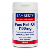 Lamberts Pure Fish Oil 1100mg Capsules 60