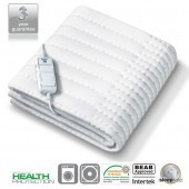 Monogram Allergy-Friendly Heated Mattress Top Single