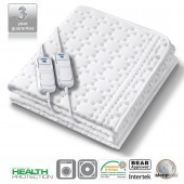 Monogram Allergy Friendly Heated Mattress Top Double Dual