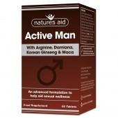 Nature's Aid Active Man with Arginine, Korean Ginseng and Maca Tablets 60