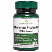 Nature's Aid Chromium Picolinate 200µg elemental Tablets 90