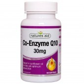 Nature's Aid COQ-10 30mg (Co-Enzyme Q10) Softgels 90