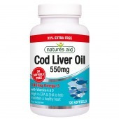 Nature's Aid Cod Liver Oil 550mg Softgels 120
