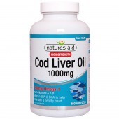 Nature's Aid Cod Liver Oil (High Strength) 1000mg Softgels 180