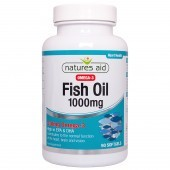 Nature's Aid Fish Oil 1000mg (Omega-3) Softgels 90