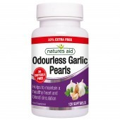 Nature's Aid Garlic Pearls (Odourless) One-a-day Softgels 120