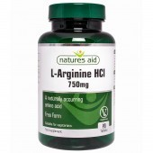 Nature's Aid L-Arginine HCl 750mg Tablets 90