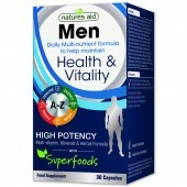 Nature's Aid Men Multi-Vitamins & Minerals (with Superfoods) Capsules 30