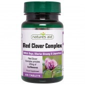 Nature's Aid Red Clover Complex with Sage, Siberian Ginseng & Liquorice Tabs 60