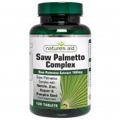 Nature's Aid Saw Palmetto Complex with Nettle, Zinc & Amino Acids Tablets 120