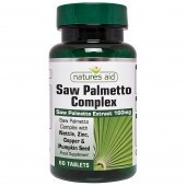 Nature's Aid Saw Palmetto Complex with Nettle, Zinc & Amino Acids Tablets 60