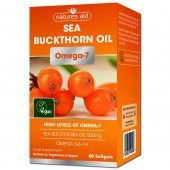 Nature's Aid Sea Buckthorn Oil 500mg (Omega-7) Softgels 60