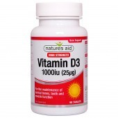 Nature's Aid Vitamin D3 1000iu (25ug) Tablets 90