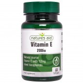 Nature's Aid Vitamin E 200iu Natural Form Softgels 60