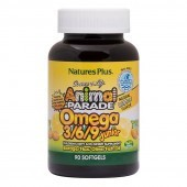 Nature's Plus Animal Parade Omega 3-6-9 Junior Softgels 90