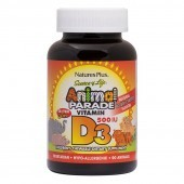Nature's Plus Animal Parade Vitamin D3 500iu Chewables 90