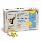Pharmanord Bio-Vitamin D3 1000iu 25mcg caps 80