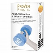 Proven Probiotics Adult Acidophilus & Bifidus 50 Billion Caps 14