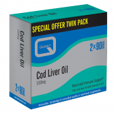 Quest Vitamins Cod Liver Oil (Twin Pack 2X90) Caps 180