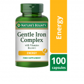 Nature's Bounty Gentle Iron Complex with Vitamins B12 & C Caps 100