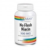 Solaray No Flush Niacin 500mg Capsules 100