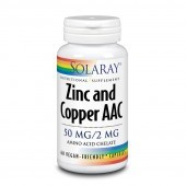 Solaray Zinc and Copper AAC Capsules 60