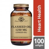 Solgar Cold Pressed Flaxseed Oil 1250mg Softgels 100