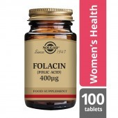 Solgar Folacin (Folic Acid) 400 mcg Tablets 100