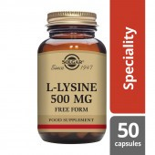 Solgar L-Lysine 500mg Vegicaps 50