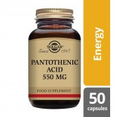 Solgar Pantothenic Acid 550mg Capsules 50