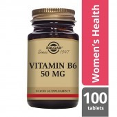 Solgar Vitamin B6 50mg Tablets 100