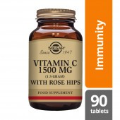 Solgar Vitamin C 1500mg with Rose Hips Tablets 90