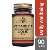 Solgar Vitamin D3 25ug (1000iu) Tablets 90
