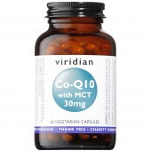 Viridian Co-enzyme Q10 30mg with MCT Veg Caps 60