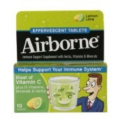 Airborne Effervescent Tablets Lemon Lime 10