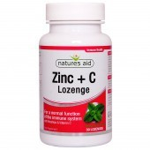 Nature's Aid Zinc Lozenge (Peppermint) with Rosehip + Vitamin C Lozenges 30