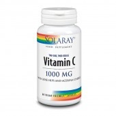 Solaray Vitamin C Two Stage Time Release 1000mg Capsules 60